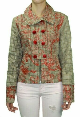 Custo Barcelona damen Jungfrau Glitzer Detail Jacke RT592306 Nwt