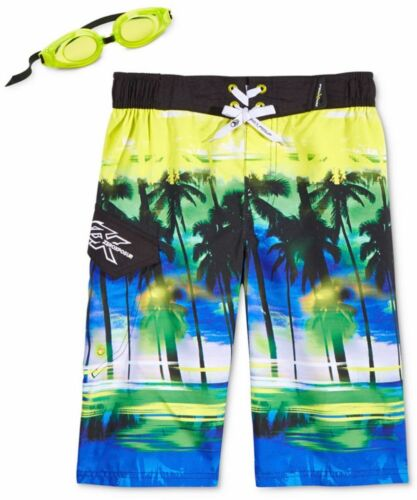 ZeroXposur Boys/' Fizz Board Shorts swimming trunks Goggles youth medium large