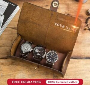 Watch-Roll-Display-Box-Genuine-Leather-Travel-Watchers-Case-Wrist-Storage-Pouch