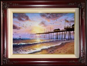 Thomas-Kinkade-Footprints-in-the-Sand-18x27-G-P-Limited-Edition-Canvas-Paintings