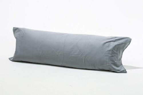 100/% Brushed Cotton Flannelette Easy Care Comfort Bolster Long Pillow Case
