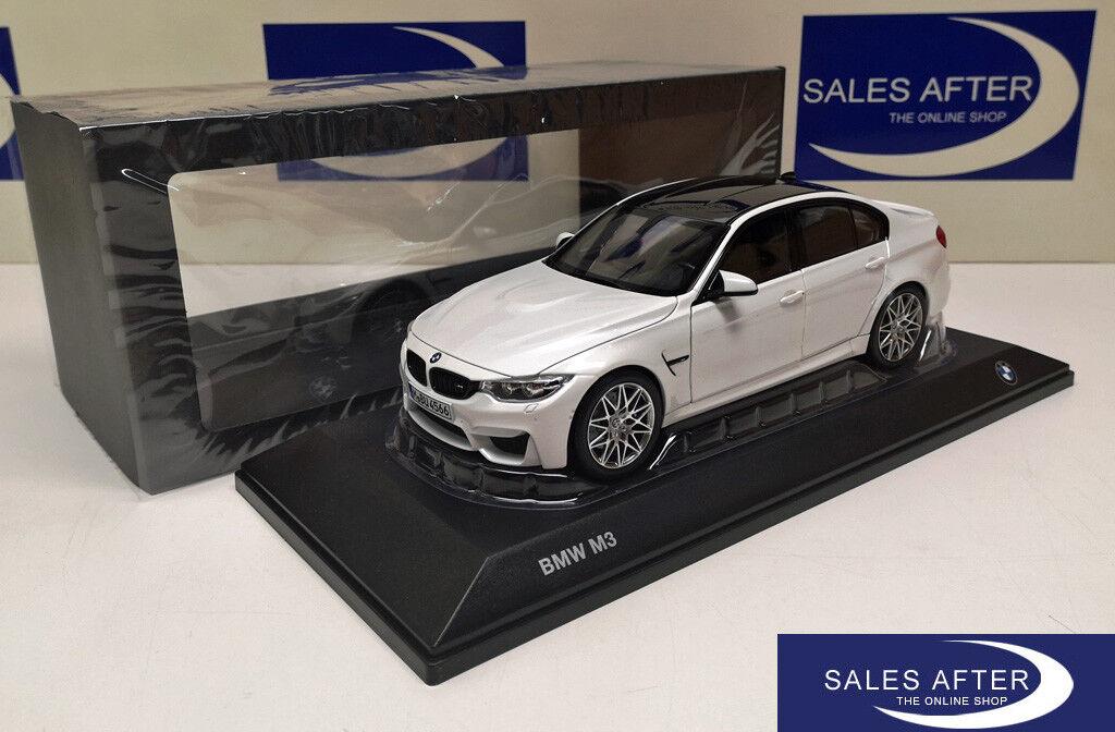 Original BMW Miniature m3 f80 Competition Paquet mineralweiss 1 18  modèle de collection  jusqu'à 34% de réduction sur tous les produits