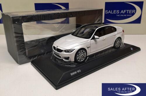 Original BMW Miniatur M3 F80 Competition Paket Mineralweiss 1:18 Sammlermodell