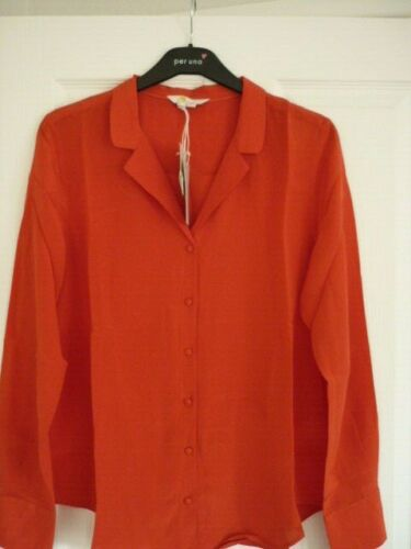 BODEN TABITHA SILK SHIRT in POST BOX RED EUR 38-40 BNWT W0288 FAB UK 12 US 8