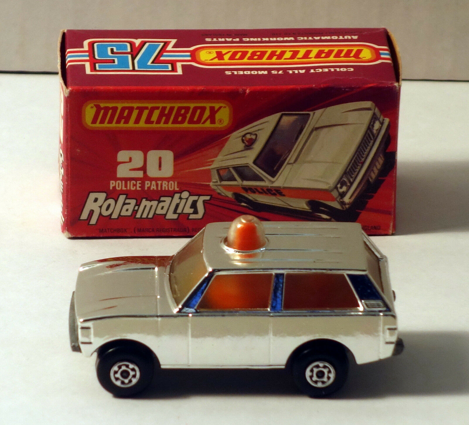DTE LESNEY MATCHBOX SUPERFAST 20-C RARE CHROME POLICE PATROL NIOB
