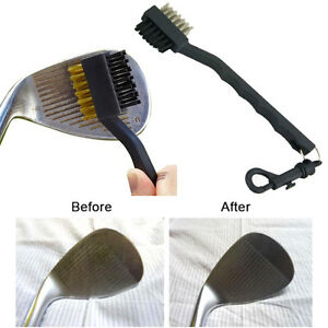 Golf-Club-Cleaner-Brass-amp-Nylon-Groove-Cleaning-Brush