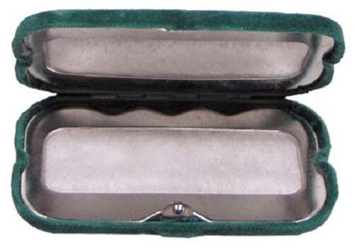 Handwärmer Taschenwärmer grün oliv mit Samtsäckchen mit 12 Kohlebrennstäben WS