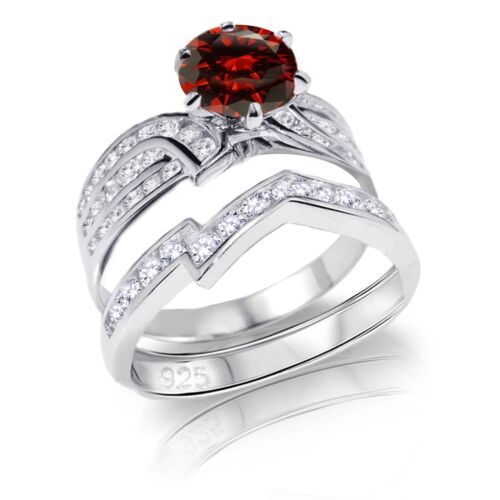 Brilliant Simulated Diamond Genuine Sterling Silver Engagement Ring Set 3.46 ctw