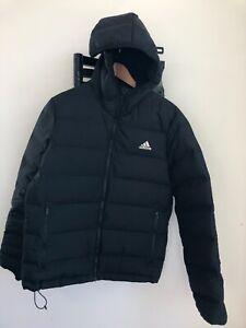 Chaud M hommes Adidas Veste à duvet pour Noir Helionic capuche en 0wvmnN8
