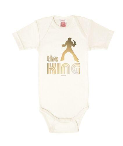 The King Baby Body Rock/'n/'Roll Strampler altweiß LOGOSHIRT Elvis