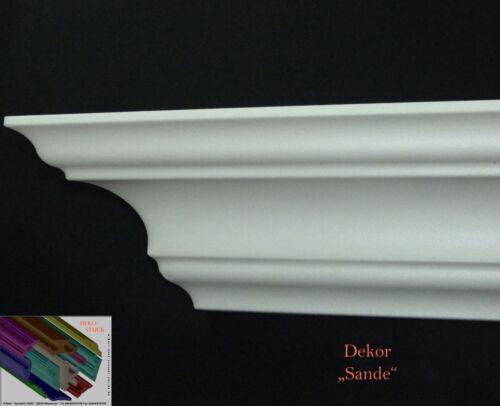 "40 Meter 4 I-A Ecken Stuckleisten Stuckprofile Zierprofile 8,1cmx8,1cm  /""Sande/"""