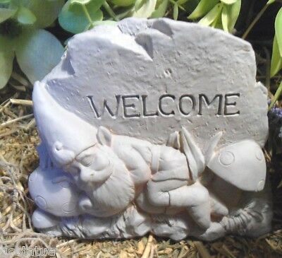 gnome welcome rock mold plaster mold concrete mold latex only
