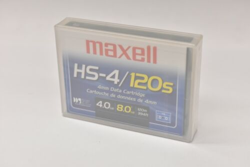 Lot of 10 Maxell HS-4/120S 4mm Data Cartridge 200110 4GB Native/8GB Compressed