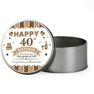Details About 40th Birthday Keepsake Novelty Funny Tin Gift Box Present Idea For Men Him Male