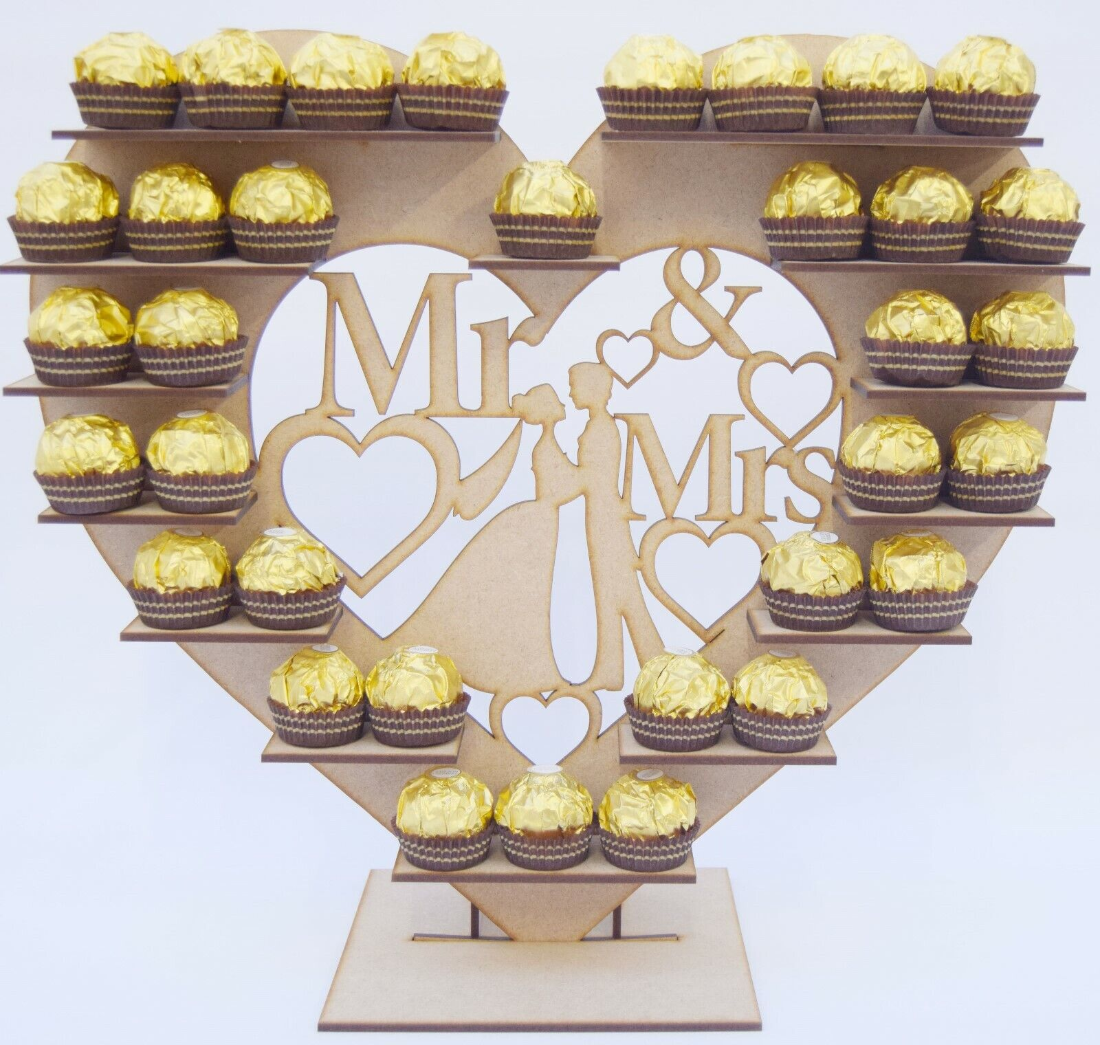 70 FERRERO ROCHE MR MRS STAND GIFTS TABLE DECORATION WEDDING TABLE SWEETS
