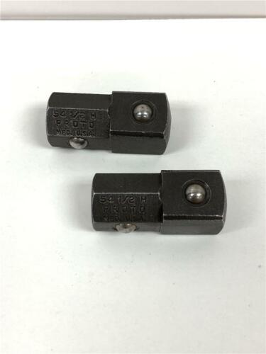 """2pc Special PROTO USA Model 54 1//2/"""" Hex X 1//2/"""" Square Dr Socket Adapter Set"""
