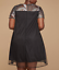 LANE-BRYANT-WOMEN-039-S-BLACK-PINK-EMBROIDERED-MESH-SWING-LINED-DRESS-PLUS-Sz-18-20 thumbnail 2