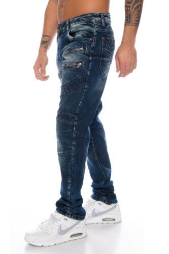 Cipo /& Baxx Cuciture Uomo Pantaloni Jeans 382 BLU NUOVO w28 29 30 31 32 33 34 36 38 40