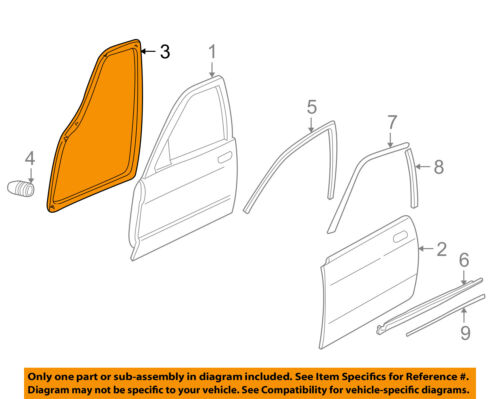 JAGUAR OEM 95-03 XJ6 XJ8 Vanden Plas Front Door Weatherstrip Seal Left HNC5301AC