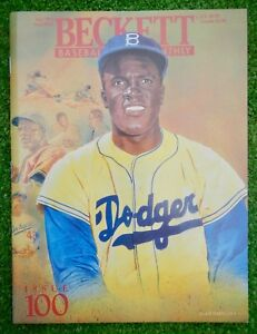 JACKIE-ROBINSON-DODGERS-BECKETT-BASEBALL-MONTHLY-ISSUE-100-JULY-1993