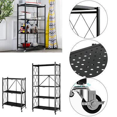 Multi Layer Foldable Metal Shelf