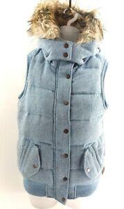 Aufrichtig Fat Face Womens Gilet Body Warmer 8 Blue Polyester Hooded Aromatischer Charakter Und Angenehmer Geschmack Clothes, Shoes & Accessories Women's Clothing