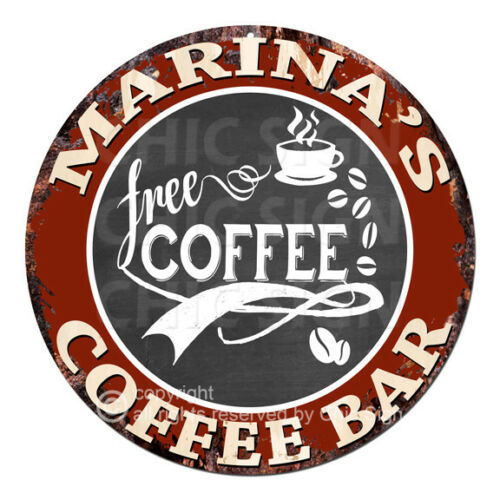 CFCB-0501 MARINA/'S COFFEE BAR Sign Mother/'s Day Housewarming Christmas Gift