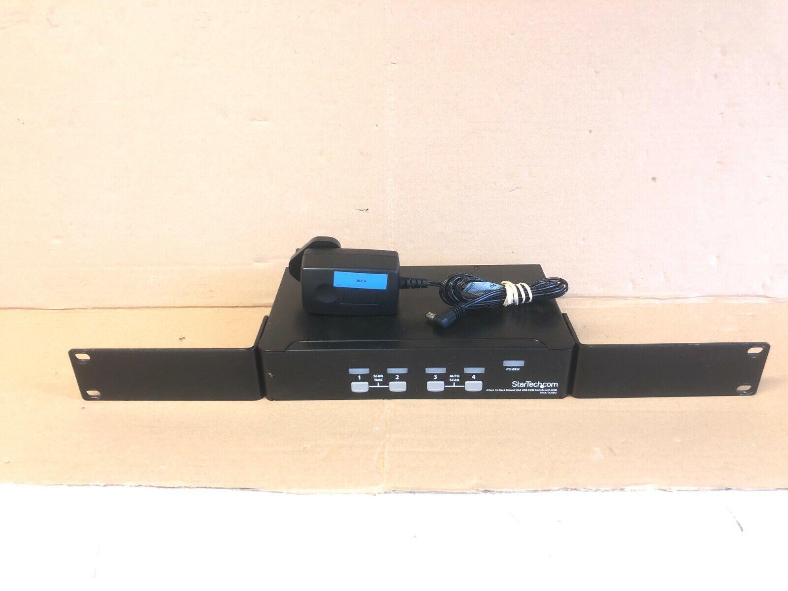 StarTech.com VGA KVM Switch - 4 Port 1U - Rackmountable USB