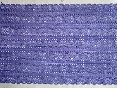 Elegante Spitze Schwarz Blau Lila Magenta elastisch 6,5cm breit Borte