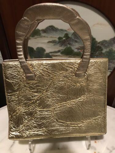 Selten Gold Handtasche Geldbrse Model Abend Leder Vintage Finesse La xpqnwtC8