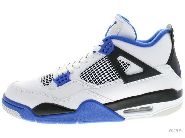 AIR JORDAN 4 RETRO  MOTORSPORT  308497-117 white game royal-black 4 Size 9.5