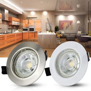 1X-10X-Spot-Encastrable-Fixe-GU10-LED-230V-Rond-35w-45w-Blanc-Neutre-Blanc-Chaud