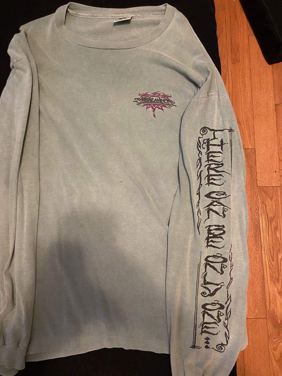 vintage t shirt 90s Highlander Green XL Long Slee… - image 1