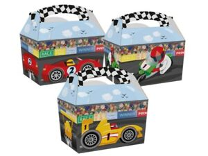 10-Race-Time-Sports-Car-Bike-Racing-Track-Birthday-Party-Boxes-Fun-Food-Meal-Box