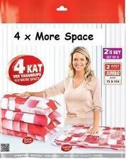 New Jumbo Vacum Storage bag set of 2 Saving Space Seal Bag Quality Valf 73x130cm