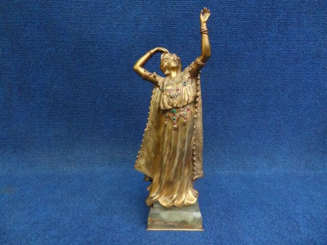 ART NOUVEAU ART DECO GILT BRONZE ORIENTAL DANCER ERNEST WANTE & KLEIN PARIS 1900