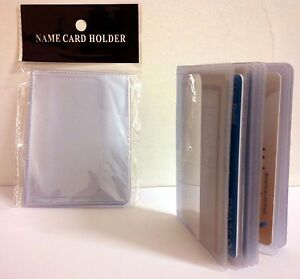 image is loading lot of 2 16 page credit card holder - Plastic Credit Card