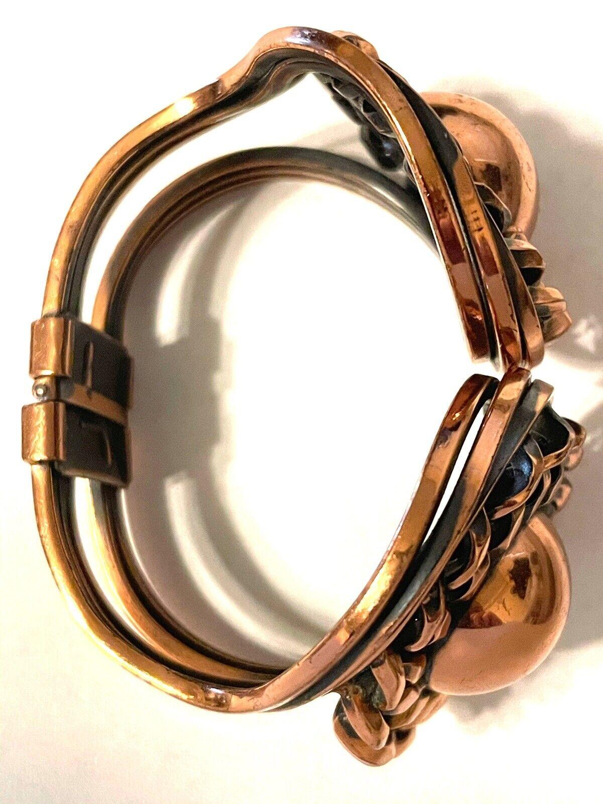 Vintage Mid Century Modern Copper Clamper Bracele… - image 4