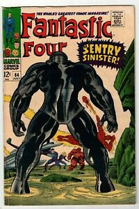 FANTASTIC-FOUR-64-FN-1st-Appearance-of-KREE-SENTRY-Stan-Lee-Jack-Kirby-1967