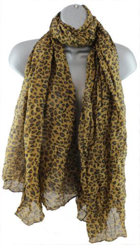 NUOVA linea donna smallleopard Stampa Sciarpa Animale Grigio Rosa Bianco Marrone Nero Blu