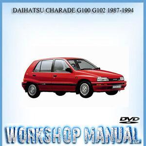 daihatsu charade g100 g102 1987 1994 workshop service repair manual rh ebay com au 1994 daihatsu charade workshop manual Daihatsu Charade