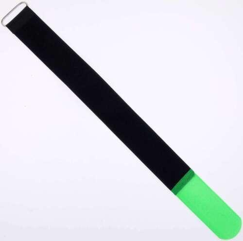 50x Kabelklett Klettband 400 x 40 mm neon grün Klett Kabelbinder Klettbänder Öse