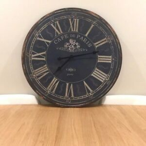 Large 70cm Rustic Wall Clock Home Decor French Provincial