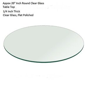 20 Or Few Cm Less Round Flat Polished Edge Textured Glass Table Top