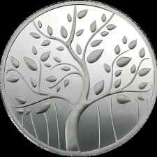 100 GRAMS 999 SILVER MMTC-PAMP BANYAN TREE COIN ( IN CAPSULE )