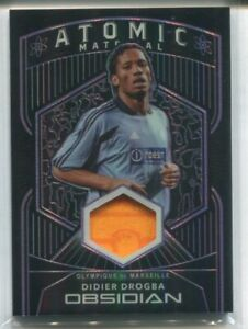 2020-21 PANINI OBSIDIAN DIDIER DROGBA PURPLE ATOMIC MATERIAL PATCH 04/35