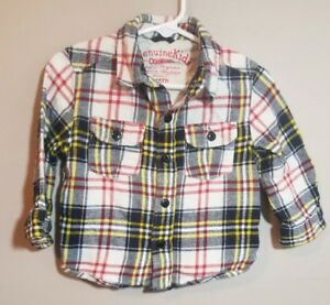 33d3ab2a25e OshKosh B gosh Toddler Boys Plaid Flannel Button Down Shirt Size 18 ...