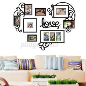 US 95*73cm Heart Photo Frame Wall Sticker Acrylic Collage Picture Home Decor Art