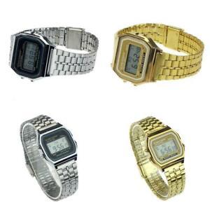 Mann-Edelstahl-Band-LCD-Digital-Armbanduhr-Sport-Quadrat-Quarz-Uhren-zac-02