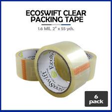 6 Rolls Shipping Packaging Packing Box Sealing Tape 16 Mil 2 X 55 Yard 165ft